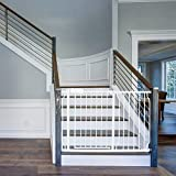 43.5' Auto Close Safety Baby Gate Extra Tall Extra Wide Child Gate Easy Walk Thru Durability Dog Gate for The House, Stairs, Doorways