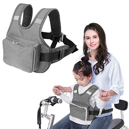 Bambini Cintura Sicurezza per Moto,Prova di Caduta Imbracatura di Sicurezza per Bambini,Regolabile Cintura di Protezione per Neonati Molta Forza Bicicletta Imbracatura di Sicurezza per Bicicletta