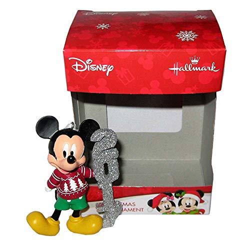 Hallmark Set of 2 Ornaments - 2017 Mickey & Minnie Mouse