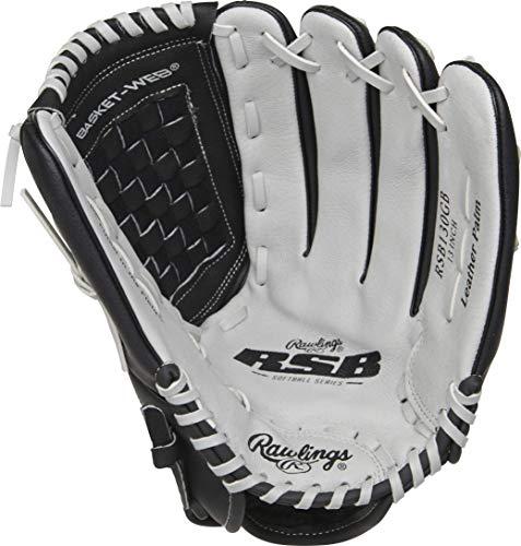 RAWLINGS Softball Series Glove, Basket Web, 13 inch, Right Hand Throw