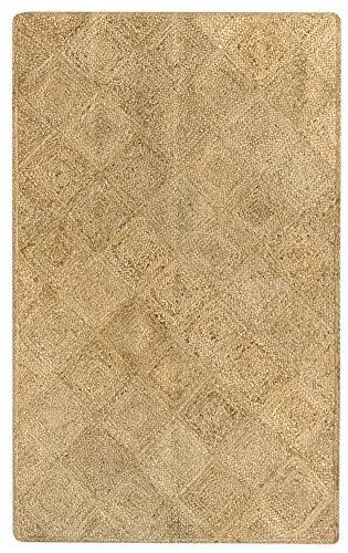 HAMID - Alfombra Yute Pune Color Natural - Alfombra 100% Fibra de Yute (170x120cm)