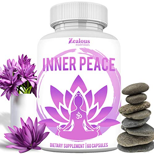 Inner Peace - Anti Anxiety & Stress Relief Supplement – Natural Plant Based Herbal Blend | Anxiety Relief, Fatigue Support, Mental Focus, Positive Mood, Serotonin | Non Drowsy Formula for Memory 60ct