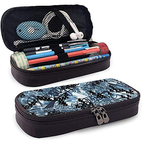 Snowboard Freestyle Camouflage etui PU lederen potlood zak briefpapier multifunctionele make-up tas houder