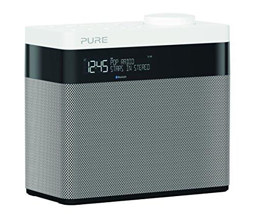 Pure Pop Mini Radio Portable numérique Dab/FM Pop Maxi avec Bluetooth Dimensions:- 185 mm Wide x 173 mm High x 102 mm Deep Argent