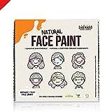 BioKidd Kit de Pintura Facial para Niños para Pieles Sensibles No Tóxicas, Set de Pinturas Faciales Corporales Naturales Ecologicas al Agua - Halloween Royal Party, 10 Colores para Pintar la Cara