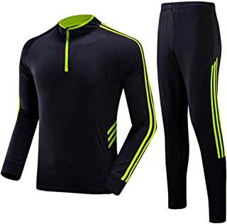 Sports Suit Men's Spring and Autumn Long-Sleeved Trousers Two-Piece Quick-Drying Breathable Running Fitness Training Casua...
