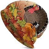 Giles John Unisex Beanie Caps Thanksgiving Türkei Kürbis Herbst Ernte Gedruckt Slouchy Sommer...