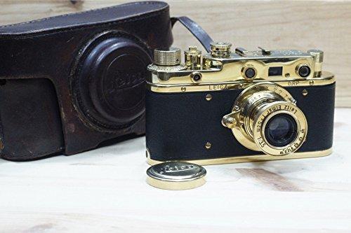 LEICA Rare Ernst LEITZ WETZLAR Vintage Russian 35mm Gold Camera Excellent