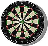 XUHRA Dardos Incluye Seis Dardos De Latón Y Kit Grillo del Lado Flocado Dartboard Set 45 Cm (18 Pulgadas) De Diámetro,Desde Una Foto,18 Piezas
