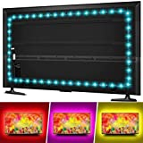 Hiromeco LED TV Backlight for 50 55 Inches TV Bias Lighting - 11.5ft USB TV Lights Strip for 50 55 Inch HDTV - Cover 4/4 Sides TVs Without Dark Spot, 18 Colors, 6 Dynamic Modes