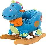 labebe Cheval à Bascule Enfant, Blue Dinosaur Jeu à Bascule Bois pour Petits Enfants (6-36 mois), Jouet à Bascule Bébé/Cheval à Bascule BébéExtérieur