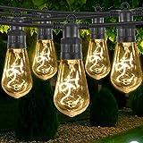 Gresonic LED 10er Glühbirnen Lichterkette spiral filament mit Stecker, wasserdicht Beleuchtung deko für Außen und Innen Party Garten Hochzeit (10 LED Glühbirne, Warmweiss)
