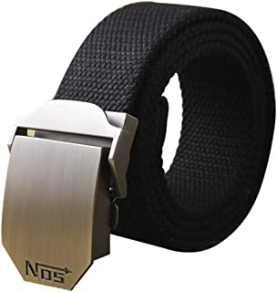 LayTmore Canvas Web Belt Military Style,130cm,Automatic Buckle Canvas Belt Men's And Women's Thick Canvas Belt,for all waists