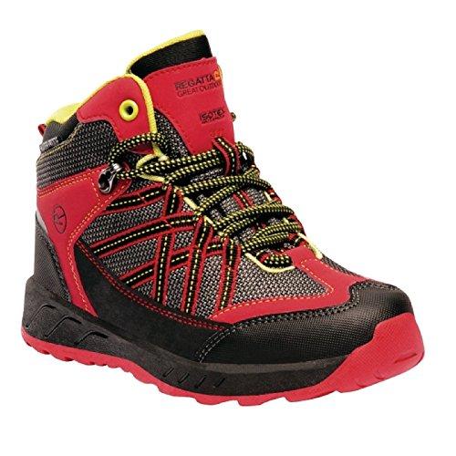 Regatta - Chaussures Montantes de randonnée Samaris - Unisexe (35 FR) (Rouge/Jaune)