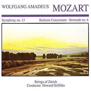 Wolfgang Amedeus Mozart: Symphony No. 13 · Sinfornia Concertante · Serenade No. 6