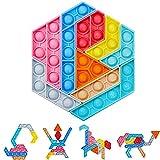 Sensory Fidget Toys, Autism Needs Stress Reliever Brinquedos de Alívio da Ansiedade, Puzzle Jigsaw Puzzle Bubble, Brinquedos Educativos para Crianças Adultos, Recompensas de Sala de Aula Escolar