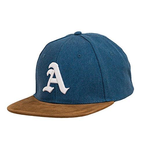 Snapback - Gorra de béisbol de tela y ante, diseño con...