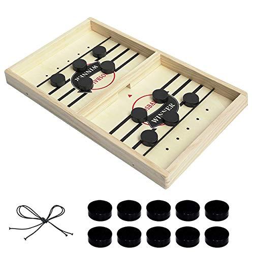 Fast Sling Puck Game - Table Desktop Best Battle Foosball Winner Board Game - Slingshot Game for Kids & Family