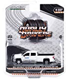 2017 Chevy Silverado 3500HD Dually Pickup Truck White 101st Running Indy 500' Official Truck Dually Drivers 1/64 Diecast Car by Greenlight 46060 A
