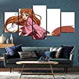 CAFO Wolf and Spice Anime Pictures 5 Panel Painting Wall