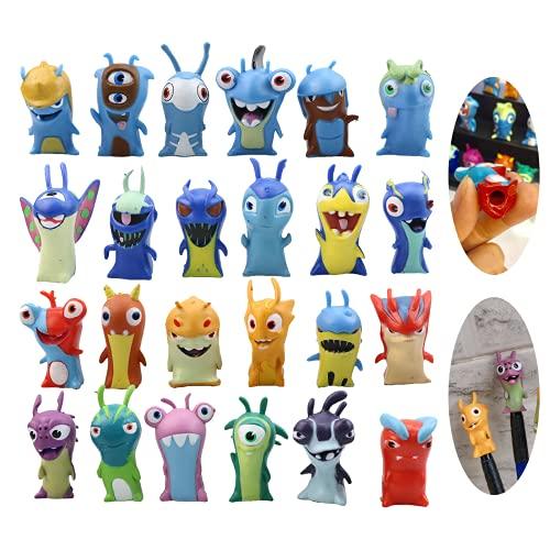 Juego de 24 figuras de acción de Slugterra,de 5 cm,figuras de anime,juguetes de muñeca para niños,niños, juguetes para niños,ideal para jugar o coleccionar,y dormitorio,coche, sala de dibujo