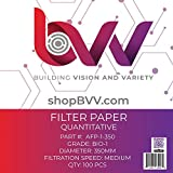 BVV Ashless Filter Papers - 350MM - Quantitative- Grade 1- Medium- 1um