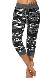 Comaba Women Yoga Cotton Nightclub Work-Out Leggings Palazzo Trousers