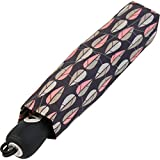 Pierre Cardin Damen Taschenschirm Auf-Zu-Automatik - Geo Drops - rosa