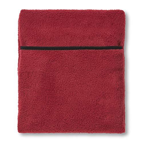 Hotties Bouillotte en polyester, chauffante au micro-ondes, housse polaire bordeaux