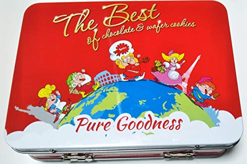 ローカー Loacker ザ ベスト オブ スーツケース 187g 20個入り 期間限定 イタリアのウエハース 輸入菓子 輸入ウエハース 食べ比べセット 輸入菓子 缶 かわいい缶