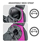 ZHOVAEAL Pet Carrier Dog Cat Hand Free Sling Carrier Outdoor Travel Sling Shoulder Bag for Dogs Cats Walking Subway Daily Use (Fits Small Animals Less Than 9lb Pink) 10