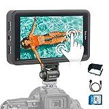 Desview-R5-カメラ外付けモニター-タッチスクリーン-一眼レフ用モニター 1920*1080 3D LUTs 4K信号入力/出力 5.5インチ カメラモニター 動画撮影用 日本語操作システム 【SDカード&ホットシューマウント付属&1年保証】