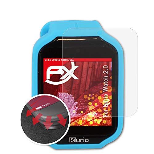 atFoliX Schutzfolie kompatibel mit Kurio Watch 2.0 Folie, entspiegelnde und Flexible FX Displayschutzfolie (3X)
