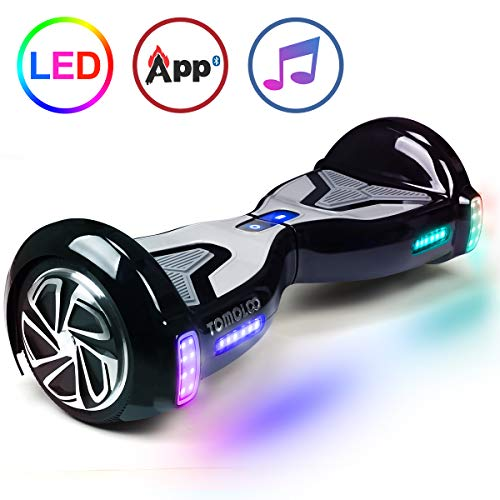 TOMOLOO Self-Balancing Scooter UL2272 Certified 6.5' Wheel Hoverboard with RGB Lights Bluetooth Speaker …