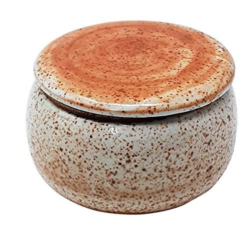 Original Französische Wassergekühlte Keramik Butterdose, Nie Mehr Harte Butter Zum Frühstück, Immer Frische Und Streichfähige Butter, ca. 250 g Butter, Shino 73, BR. DE. B-G