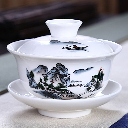 xiduobao chinesischem Porzellan Gaiwan weiß Porzellan Tradition sancai Damen Tee Tasse Tee-Set Best Geschenk