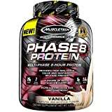 Whey Protein Powder | MuscleTech Phase8 Protein Powder | Whey & Casein Protein Powder Blend | Slow Release 8-Hour Protein Shakes | Muscle Builder for Men & Women | Vanilla, 4.6 lbs (50 Servings)