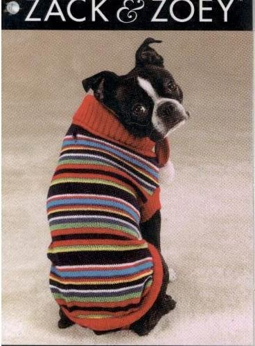 Zack Zoey Turtleneck Dog Sweater and Scarf Direct store Multi-Bright New popularity Size X