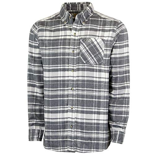 Mossy Oak Flannel Shirt for Men, Buffalo Plaid Long Sleeve Mens Flannel Shirts, Soft Flannels for Men, a Traditional Look with New Age Comfort, Large (97221)