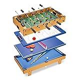 ZXQZ Mesa de Billar 4 En 1, Juguetes Educativos de Escritorio de Interior Dobles, Incluir Fútbol, Hockey sobre Hielo, Tenis de Mesa Y Mesa de Billar Mini mesas de Billar