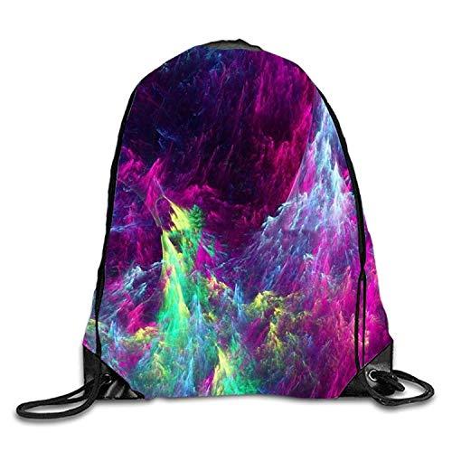 Ynjgqeo Drawstring Backpack Rucksack Shoulder Bags 3D Print Gym Bag Lightweight Travel Backpack One Horned Cat