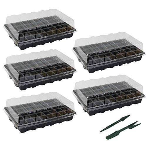 3 Pack Seed Starting Trays 12 Cells Insert Hot House Seed Starter Trays Kit for Garden Large Seedling Tray with Humidity Adjustable Lid Dome and Base Tray Seed Greenhouse Tray Germination Dome