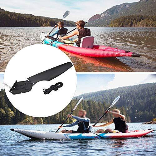 KEENSO Nueva embarcación de plástico Negro,Pesca con caña, timón, dirección del pie, Kits de Aparejos de Control, Accesorio para Canoa, para Kayak,Canoa, Pesca con caña