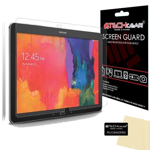 TECHGEAR [2 Stück Bildschirmschutz für Galaxy Note Pro 12.2 SM-P900, 3G SM-P901, LTE SM-P905 - Ultra Klare Schutzfolie für Samsung Galaxy Note Pro 12.2 Zoll - mit Reinigungstuch + Applikationskarte