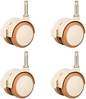 CHLUNZI001 roulettes pour MeublesPetite roulettes pour Mobilier Bébé roulettesPivotantes 47mm avec Frein Silencieuses Co...