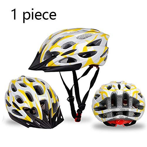 GZXGXY Fahrrad Sporthelm, Kinderhelm, Fahrradhelm Für Erwachsene, Mountainbike-Helm, Sport Schutzhelm Für Herren,Yellowwhite,L