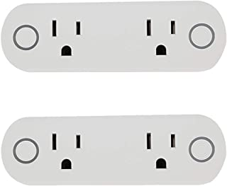 Cherry Juilt Wi-Fi Smart Plug Outlet Mini Socket Compatible with Amazon Alexa Google Assistant IFTTT for Voice Control No Hub Required Control Your Electric Devices from Anywhere (2pack, A)