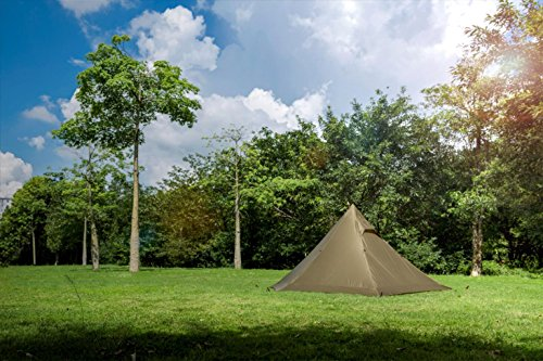OneTigris TIPINOVA Teepee Camping Tent, 1180g, No Pole Included