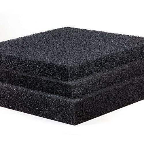 SHUNTING Filtro para acuario, espuma de filtro bioquímico para acuario, filtro de esponja de corte personalizado. Espesor: 2cm, 50x50cm