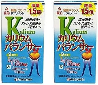 アエナ マルマン カリウムバランサー 2個セット サプリメント (1個あたり45日分 320㎎×405粒 増量版) カラダのミネラルバランス補助 (山査子 ビタミン 配合)